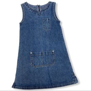 Gap denim jumper sleeveless dress, 7/8